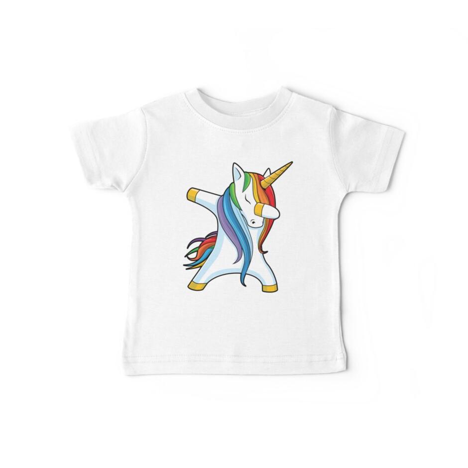 Abtupfendes Einhorn-Hemd Nettes lustiges Einhörner-T-Shirt Geschenke für Kindermädchen-Jungen-Frauen-Männer von LiqueGifts
