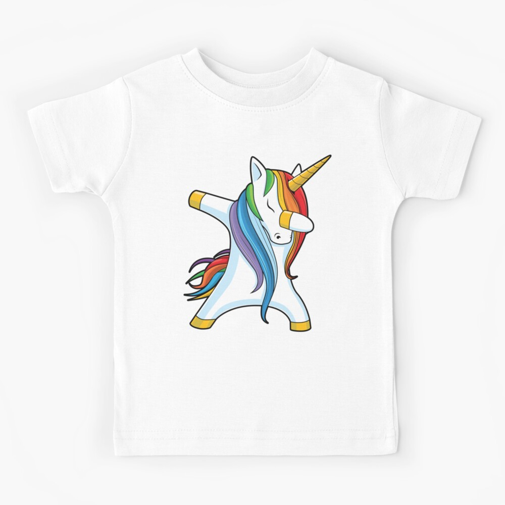 dabbing unicorn t Shirt Funny Birthday Cotton Tee Vintage Gift Men Women