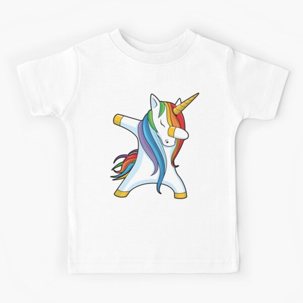 Dabbing Unicorn Shirt Cute Funny Unicorns T shirt Gifts for Kids Girls Boys Women Men Kids T-Shirt