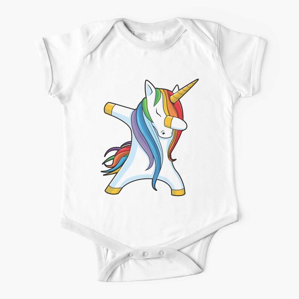 Dabbing Unicorn Shirt Cute Funny Unicorns T shirt Gifts for Kids Girls Boys Women Men Baby One-Piece