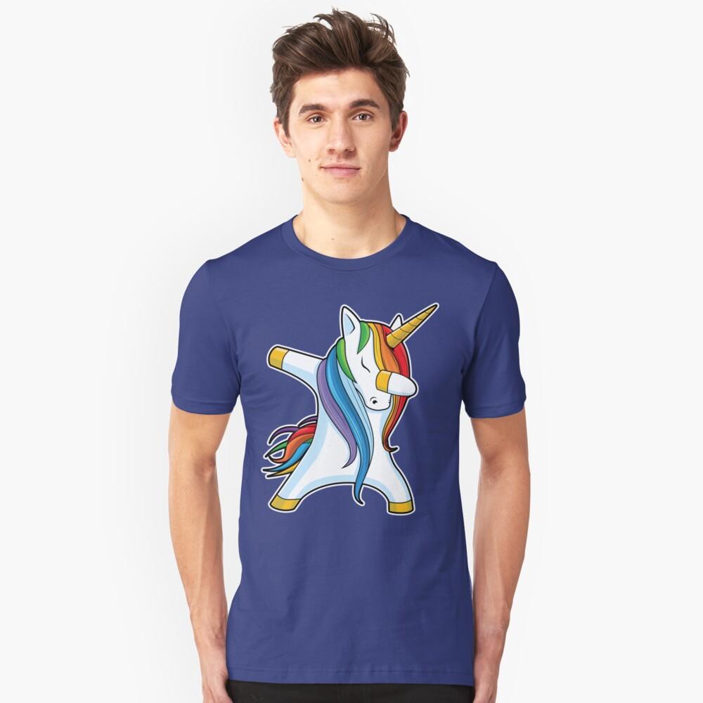 Abtupfendes Einhorn-Hemd Nettes lustiges Einhörner-T-Shirt Geschenke für Kindermädchen-Jungen-Frauen-Männer Slim Fit T-Shirt