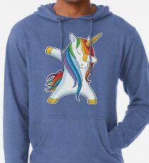 Abtupfendes Einhorn-Hemd Nettes lustiges Einhörner-T-Shirt Geschenke für Kindermädchen-Jungen-Frauen-Männer Leichter Hoodie