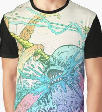 NARWHAL VS GIANT SQUID Graphic T-Shirt