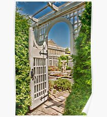 Through The Gate to the Italian Water Garden Poster