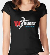 Womens Rugby Black version Women's Fitted Scoop T-Shirt