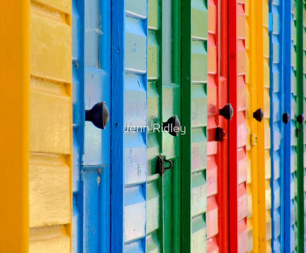 Beach Hut Doors by Jenn Ridley