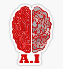 Artificial Intelligence Human Brain  Sticker