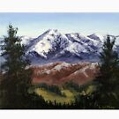 View from the Vineyard, Ruahine Mountain Range by Laura Wilson
