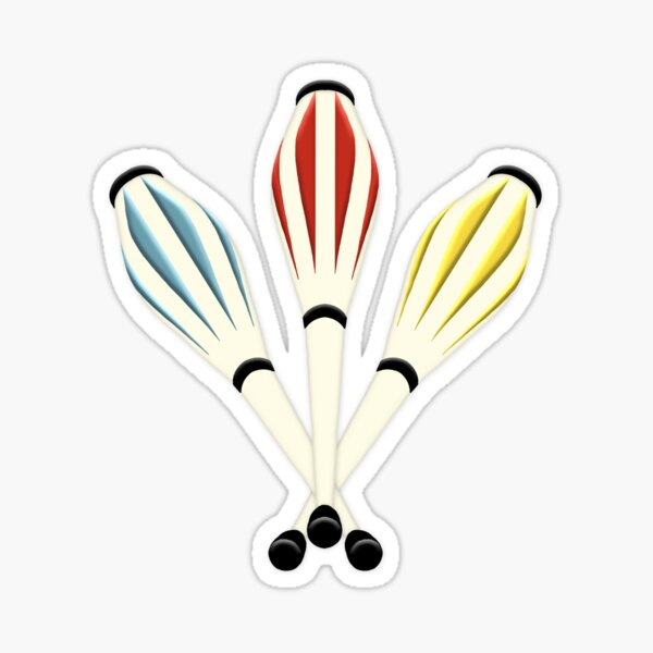 Juggling Clubs Sticker