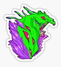 monster Maw Green Sticker