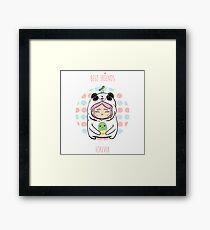 Kawaii Panda Framed Print