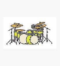Pixel Yellow Glo Drums Photographic Print
