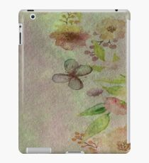 Watercolor Flower Border iPad Case/Skin