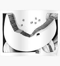 Halbmondtreppe / Halfmoon Stairway  Poster
