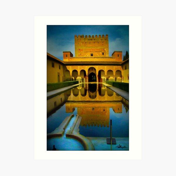 Alhambra, Granada, Pooling Art Print