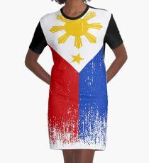 d0d794cb48e3 Fierté du drapeau des Philippines Robe t-shirt