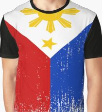 Philippines Flag Pride Graphic T-Shirt