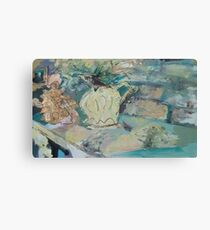 STILL LIFE WITH GOLD ANGEL (C2016) Canvas Print