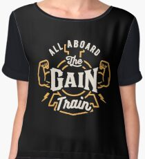 All Aboard The Gain Train Chiffon Top