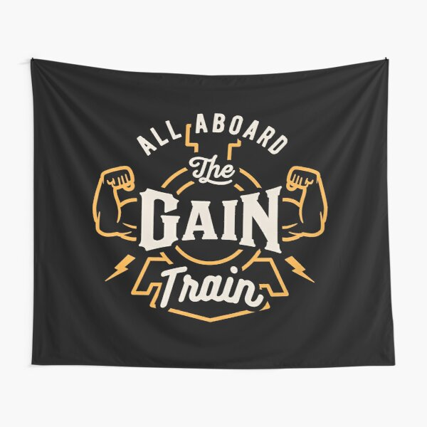 All Aboard The Gain Train Tapestry