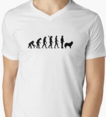 Herding shepherd dog Men's V-Neck T-Shirt