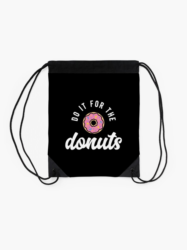 Alternate view of Do It For The Donuts Drawstring Bag