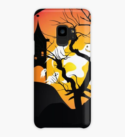 Halloween Ghost Flying out of castle Case/Skin for Samsung Galaxy