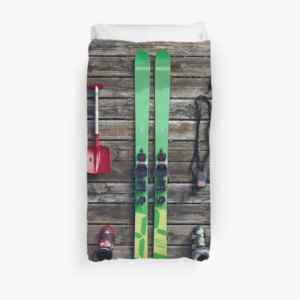 Ski Equipment  Duvet Cover