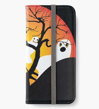 Halloween Ghost Flying out of castle iPhone Wallet