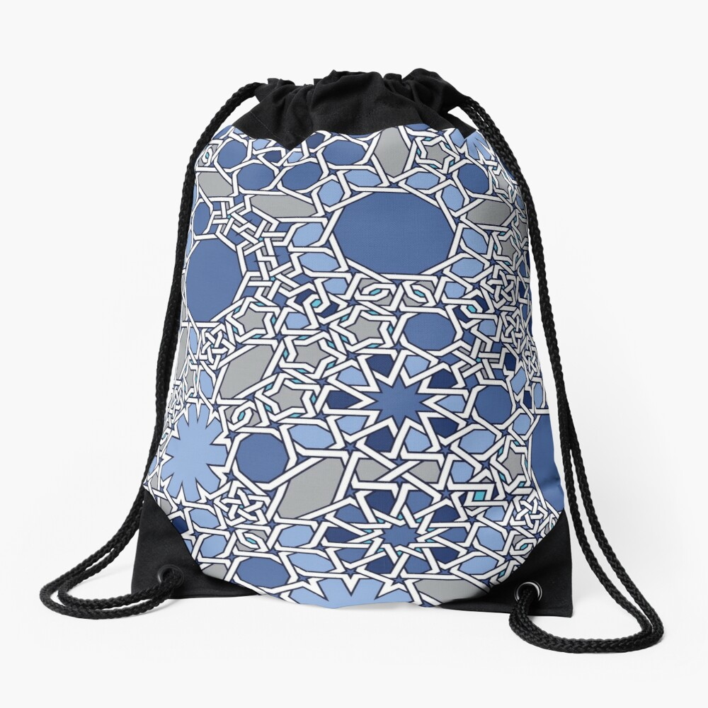 G Vision in Blue Drawstring Bag Front
