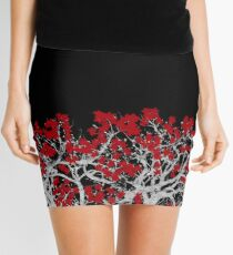Crimson Tree Mini Skirt