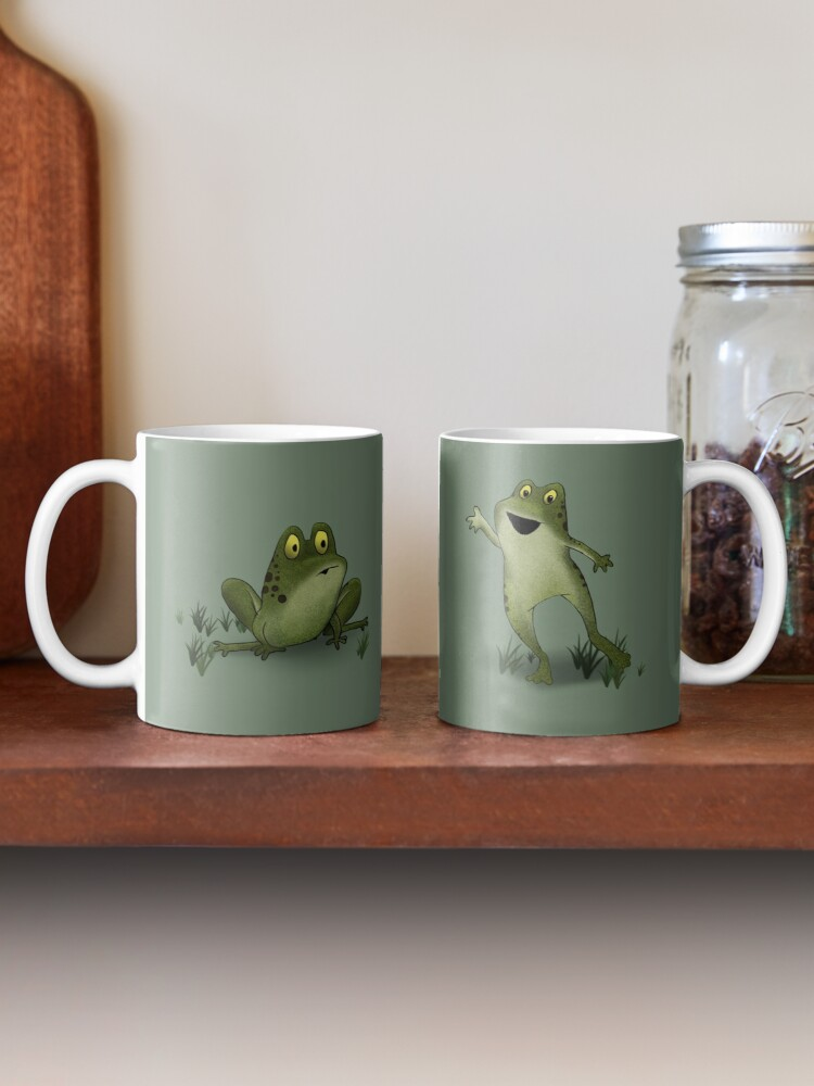 Alternate view of Two Moods of Frog Mug