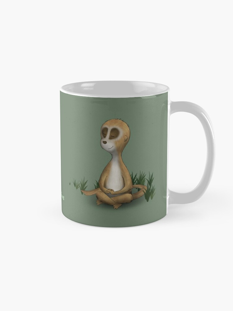 Alternate view of Two Moods of Meerkat Mug