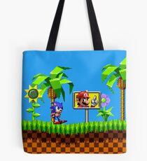 Sonic Vs Mario Tote Bag