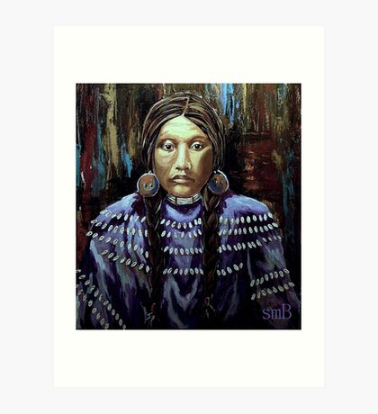 """Purple Dress With Shells"" Art Print"