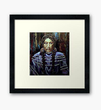 """Purple Dress With Shells"" Framed Print"