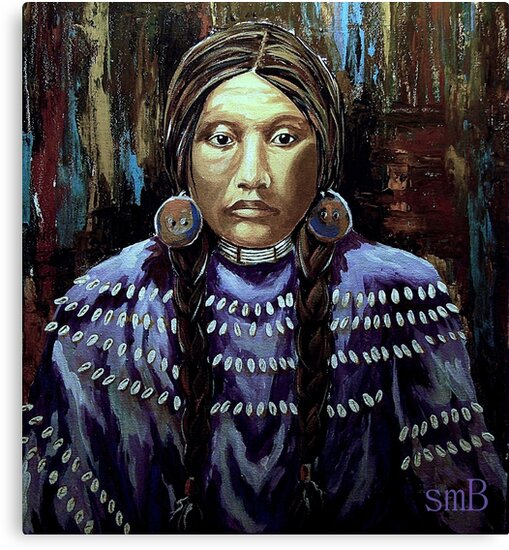 """Purple Dress With Shells"" by Susan  Bergstrom"