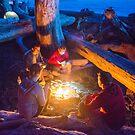 Camping with Friends - Rialto Beach, Washington by Jason Heritage