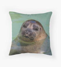 sea lion at the zoo Throw Pillow