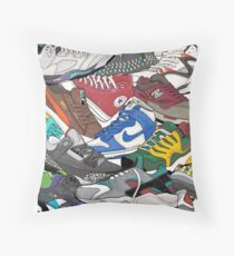 Sneaker head  Throw Pillow