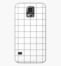 Weißes Gitter Hülle & Klebefolie für Samsung Galaxy