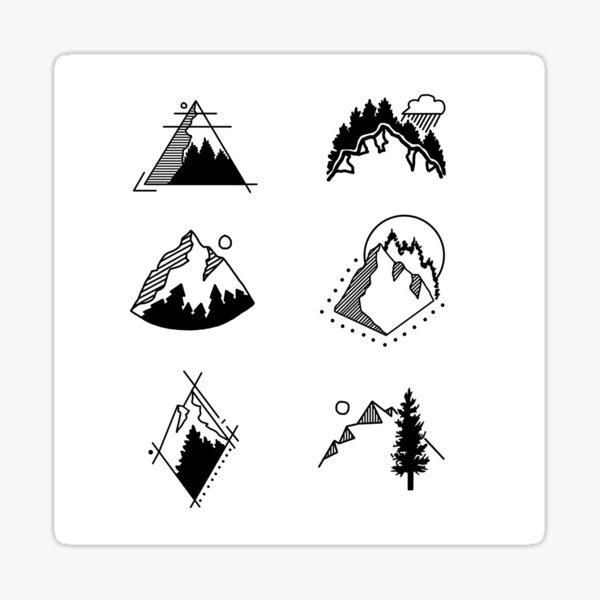 6 Mountains Sticker