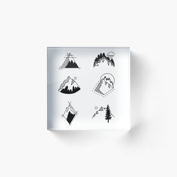 6 Mountains Acrylic Block