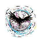 Raven on Moon - CMYK Design Tribute by LunaAndromeda
