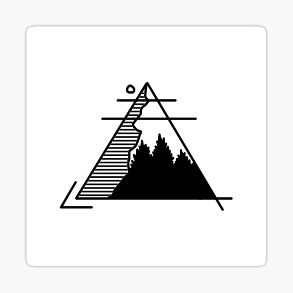 Triangle Mountain Sticker