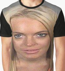 Lindsey Lohan- Mugshot Graphic T-Shirt