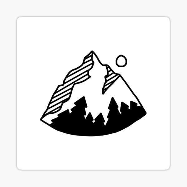 Rounded Mountain Sticker