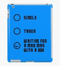 Mad Man with a Box - Dark iPad Case/Skin