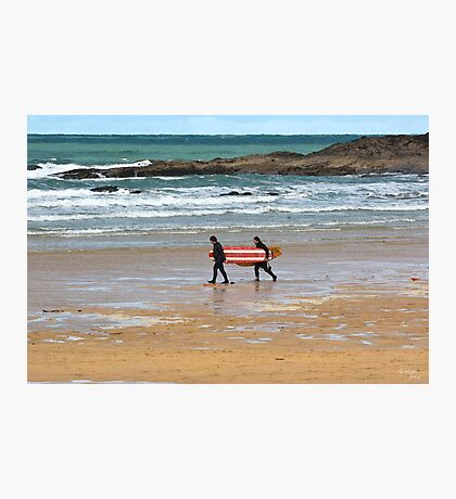 Walk To The Waves Photographic Print