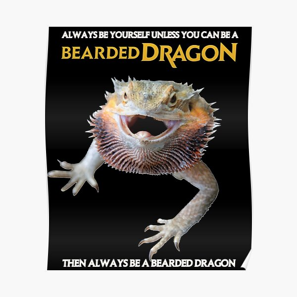 Always Be A Bearded Dragon Poster